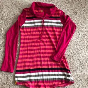 Lolë pink/multi striped tunic